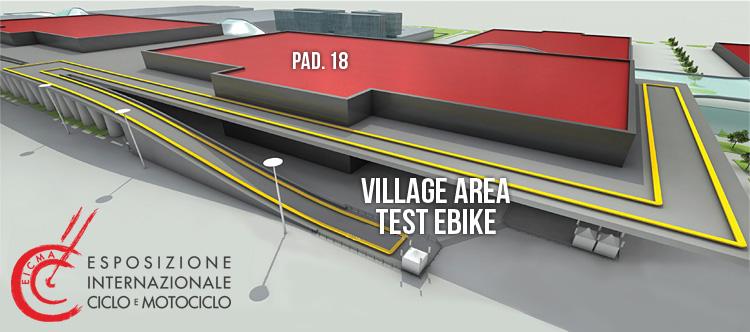 Ebike Eicma 2016, mappa dell'area test esterna per il test di bici elettriche