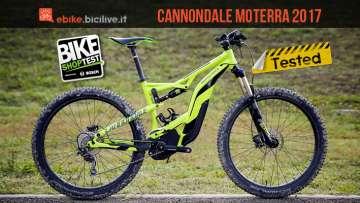 emtb full cannondale moterra 2017 provata al bike shop test di bologna