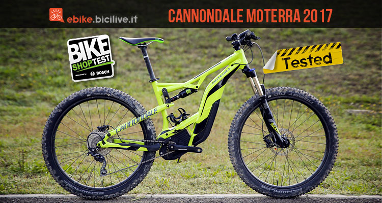 emtb full cannondale moterra 2017 provata al bike shop test di bologna