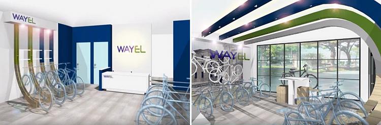 concept dei negozi di ebike Wayel