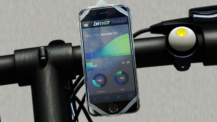 Il controllo sul manubrio e la app per gestire il kit Bimoz
