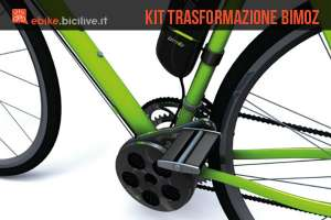 Kit di trasformazione bici normale in elettrica Bimoz