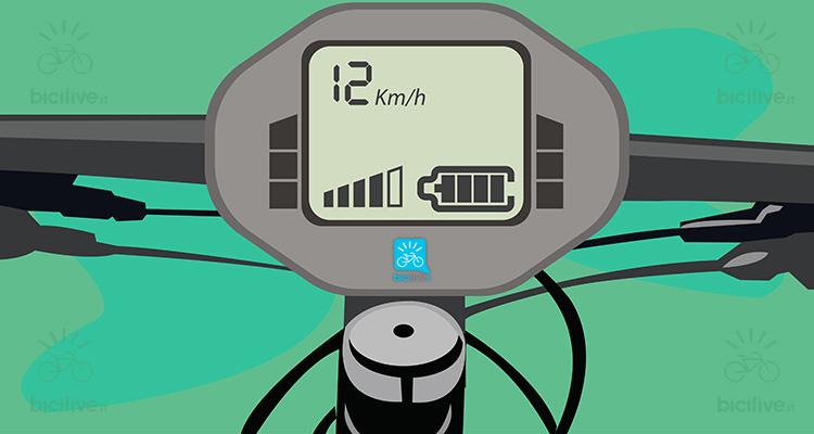 immagine di un computer di bordo di una ebike