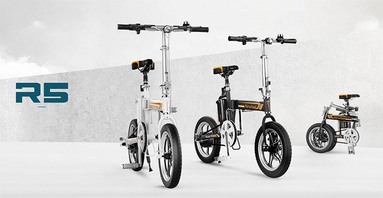 La gamma di ebike pieghevoli Airwheel R5