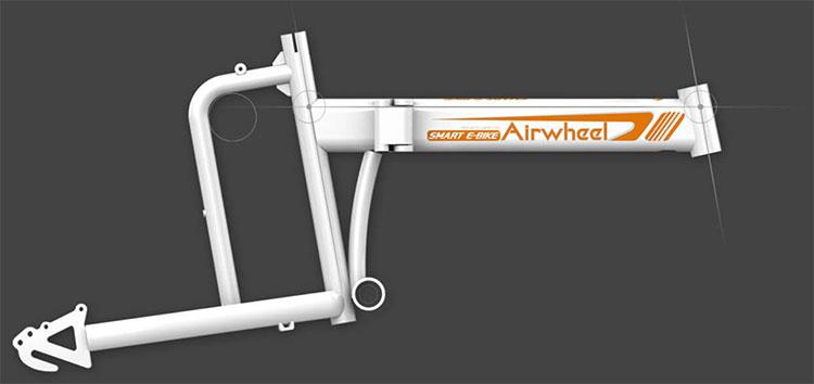 Il telaio della bici elettrica pieghevole R5 di Airwheel