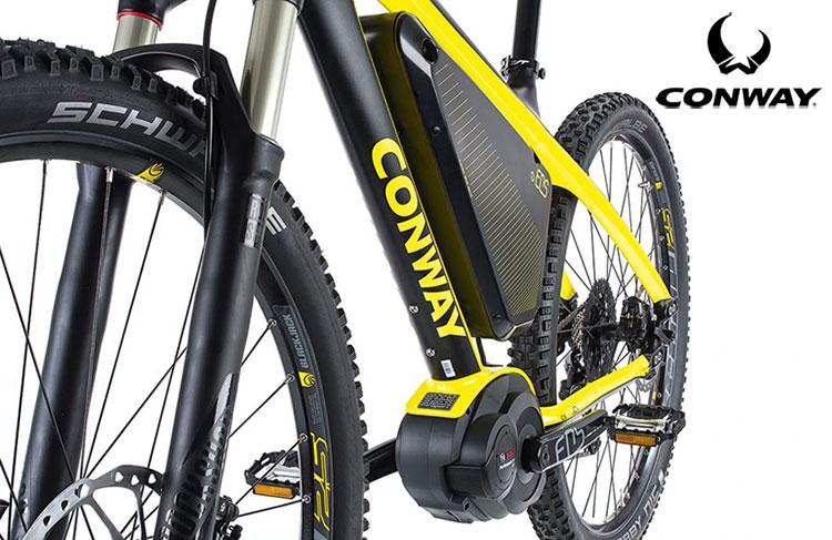 Una MTB elettrica front EMR 629 Premium della Conway