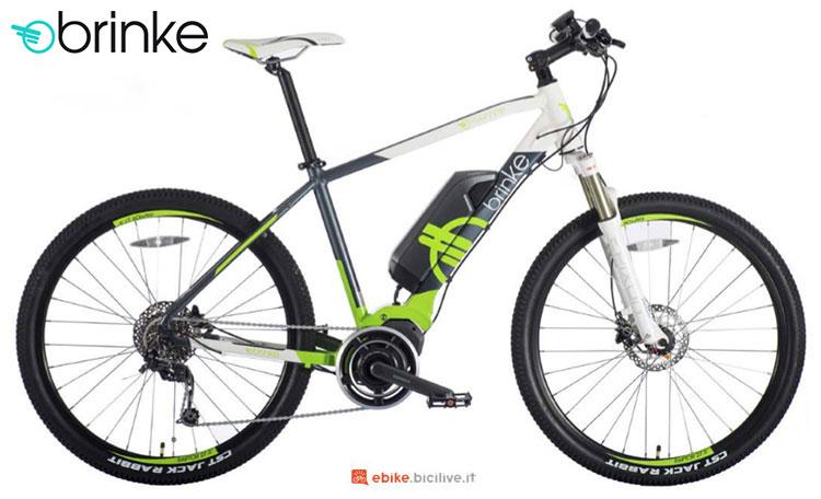 Una bici elettrica 2017 Brinke Raptor