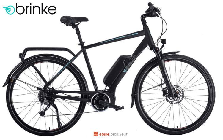 Una bici elettrica 2017 Brinke Rushmore 2 Black Deore