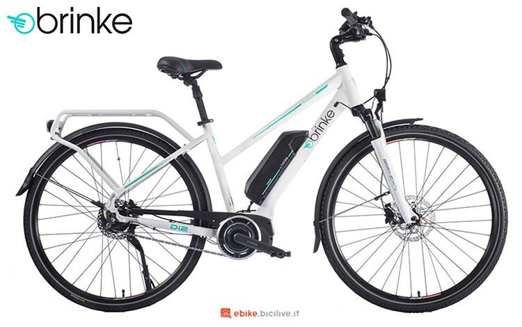 Una bici elettrica 2017 Brinke Rushmore 2 White Di2