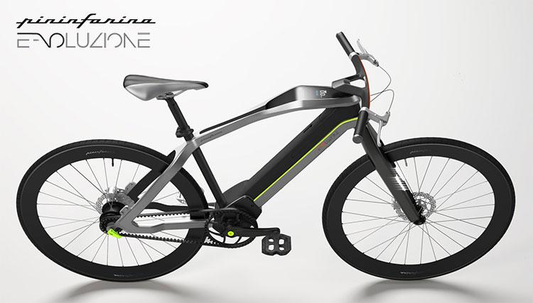 Una bici elettrica a pedalata assistita Diavelo Pininfarina E-voluzione Dynamic