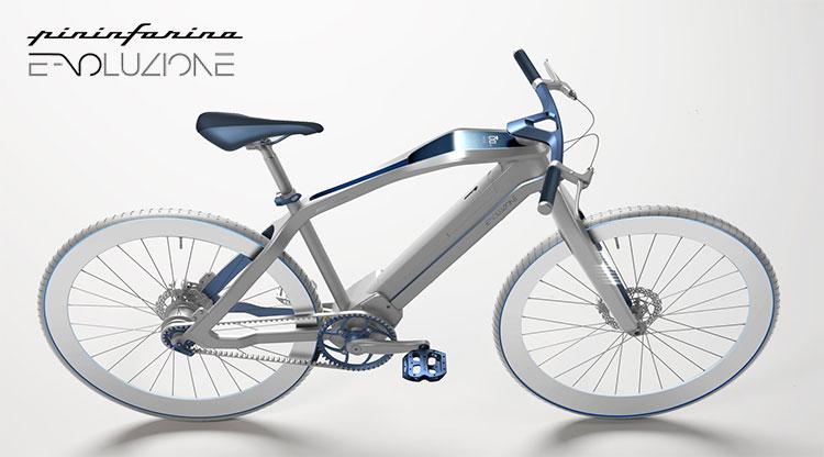 Una bicicletta a pedalata assistita Diavelo Pininfarina E-voluzione