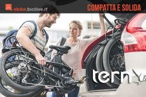 Bici elettrica pieghevole Tern vektor con motore Bosch