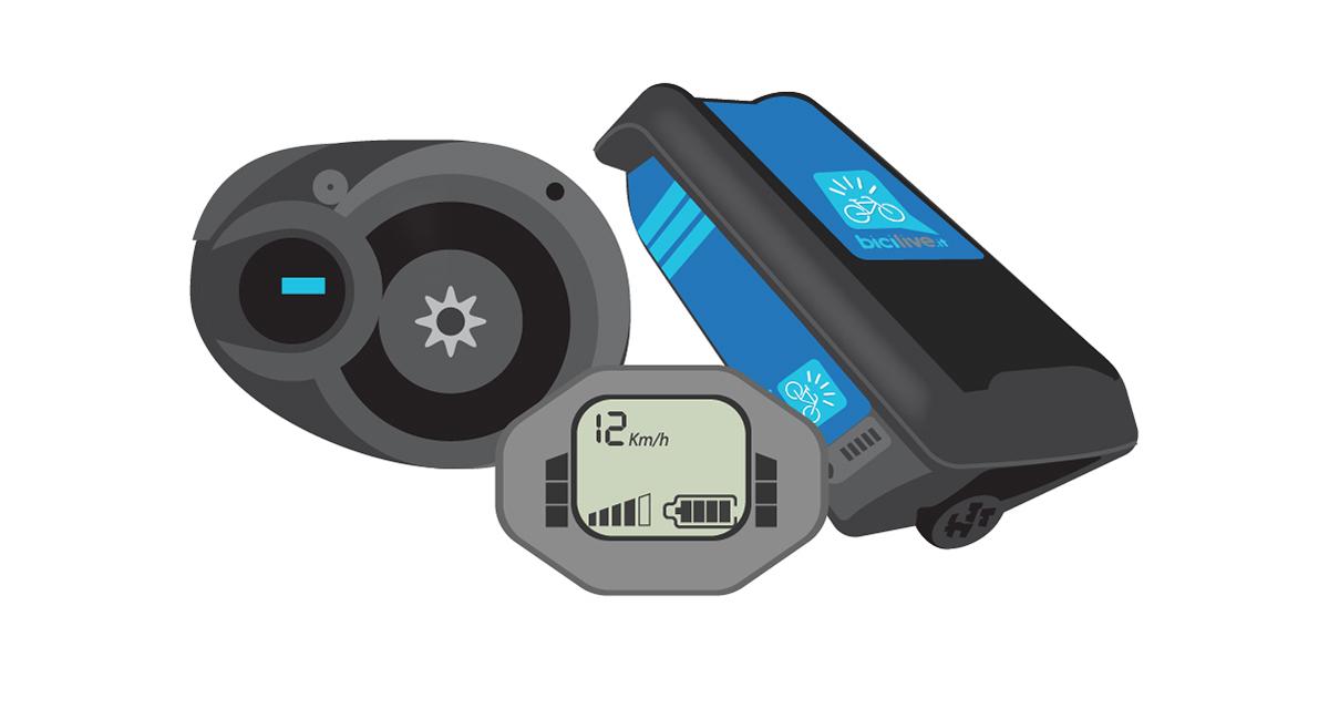 illustrazione del sistema elettrico di una ebike