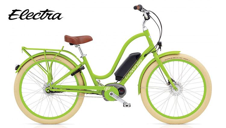 Bicicletta elettrica Electra Townie Go modello da donna colore lime