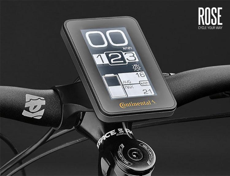 Il display in dotazione alla mountain bike Elec Tec