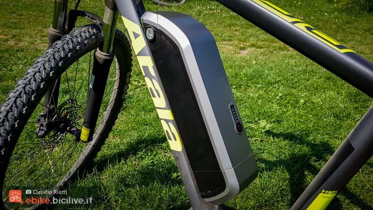 foto della batteria del nuovo motore pedalata assistita atala am80