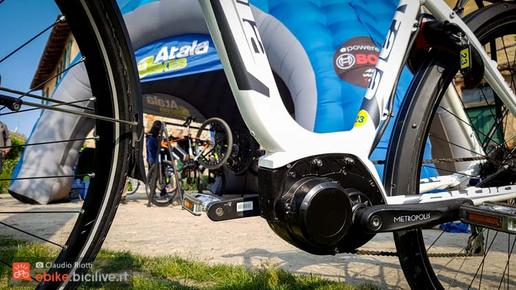 foto della bici elettrica urban atala b easy con motore am80