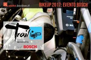 bici con motore bosch usata durante bikeup 2017