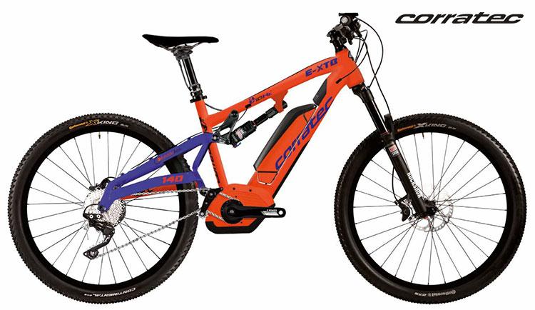 La eMTB biammortizzata Corratec E-XTB 10Hz CX 500 2017 nella colorazione arancione