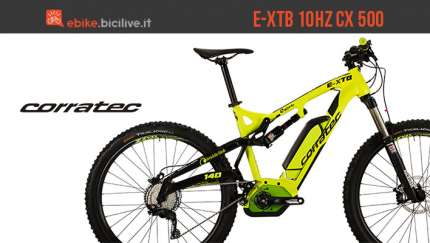 Corratec E-XTB 10Hz CX 500 2017, mtb elettrica biammortizzata