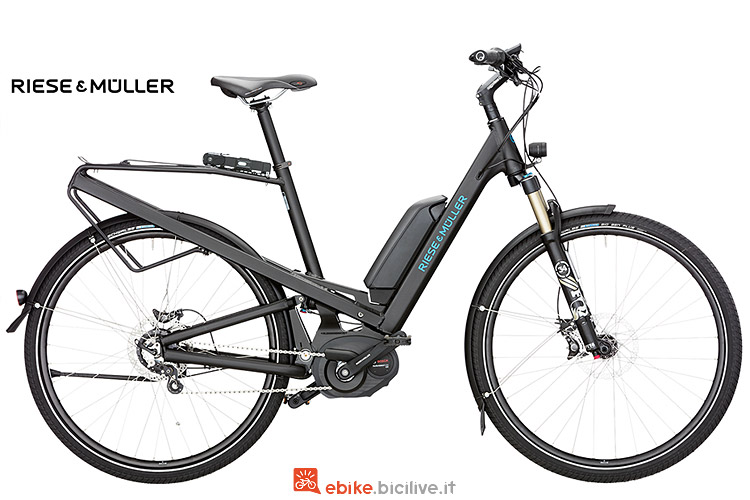 Riese & Muller Homage Rohloff con forcella Suntour Aion LO-R.