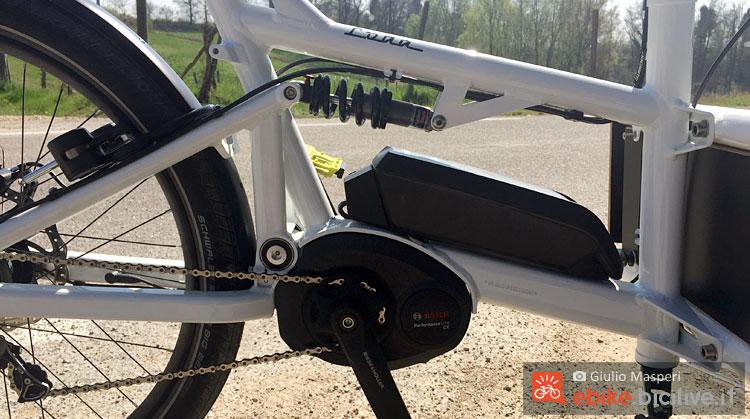 motore bosch performance cx e batteria della cargo bike R&M Load