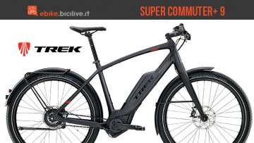 trek super commuter 9 con motore bosch performance