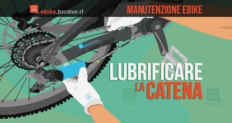 illustrazione della lubrificazione della catena della bici