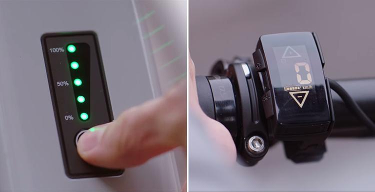 autonomia della batteria e display della scott e silence evo