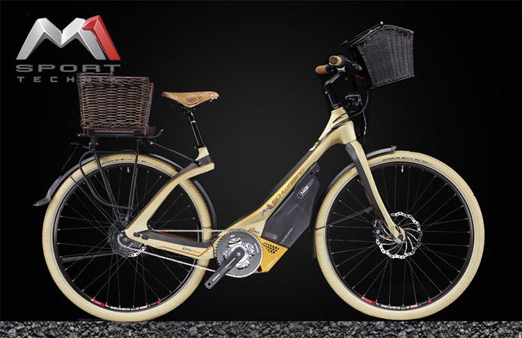 Una bici elettrica a pedalata assistita M1 Sport Technik Das Schwabing Pedelec 2017