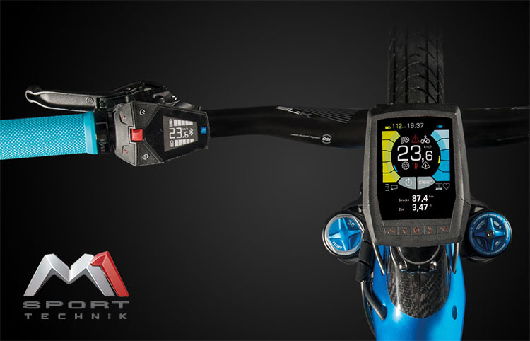 Il nuovo mini display con comandi integrati M1 Sport Technik