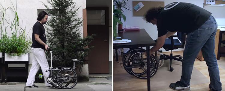 vello bike piegata per l'ufficio.