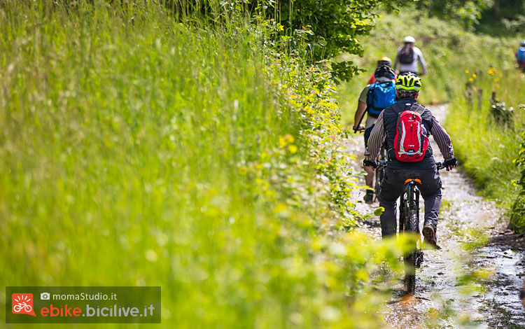 escursioni in emtb durante bikeup