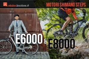 ebike con motore shimano steps e6000 e e8000