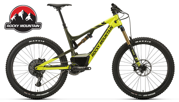 Una mtb elettrica Rocky Mountain Altitude Powerplay Carbon 90.
