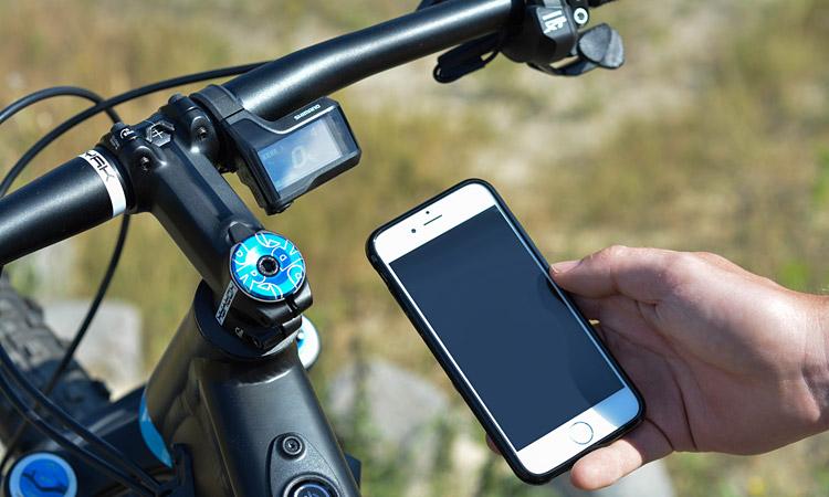 configurazione di shimano steps con smartphone
