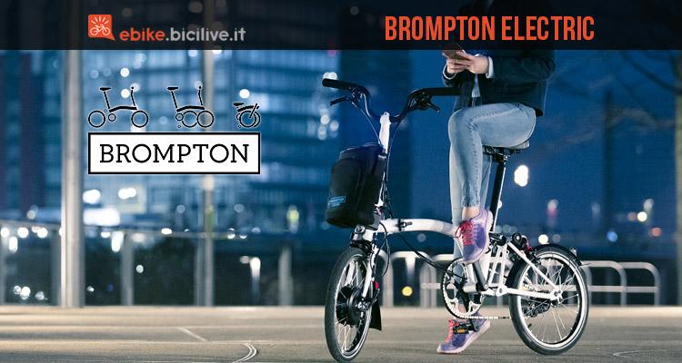 brompton elctric bici elettrica pieghevole