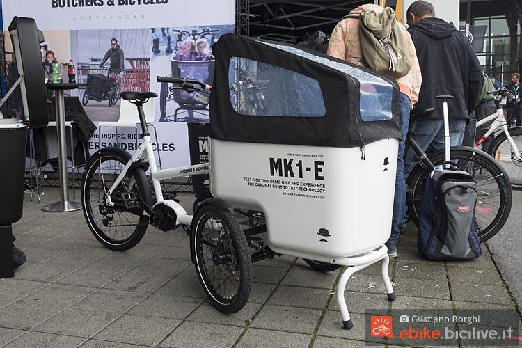 Butchers & Bicycles MK1-E cargo porta bambini.