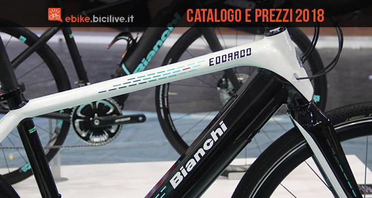 Bici Elettriche Bianchi Catalogo E Listino Prezzi 2018