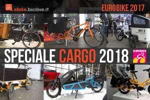 selezione di cargo bike elettriche 2018 a eurobike