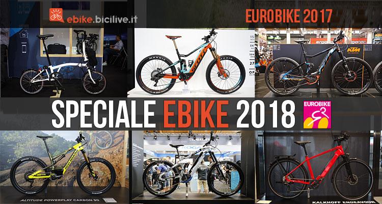 ebike 2018 selezionate a eurobike