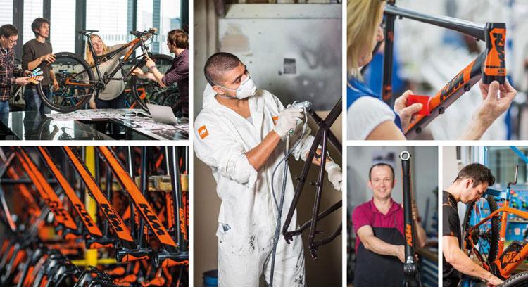 assemblaggio e montaggio biciclette elettriche ktm