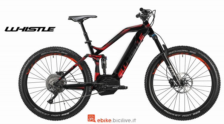 mountain bike elettrica whistle b-rush plus s 2018