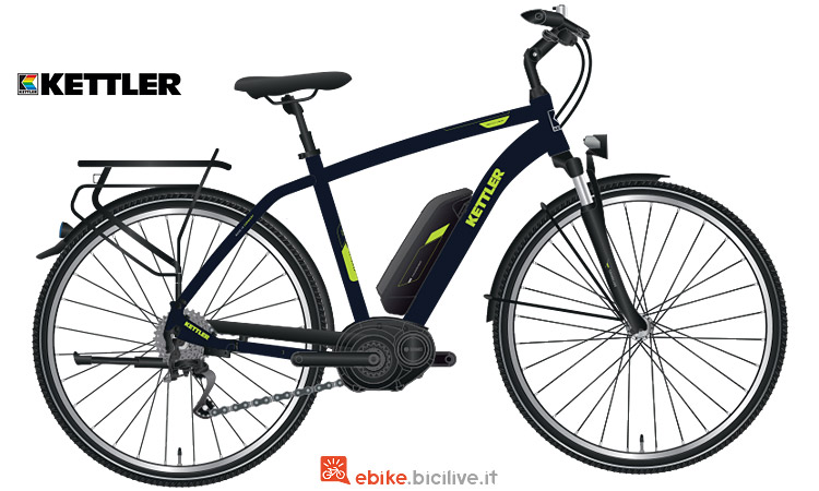 bicicletta elettrica da viaggio kettler traveller e comfort