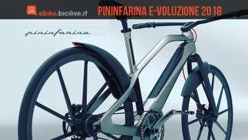 ebike di design pininfarina e-voluzione 2018