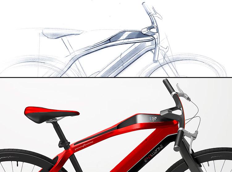 bicicletta elettrica di design pininfarina e-voluzione 2018