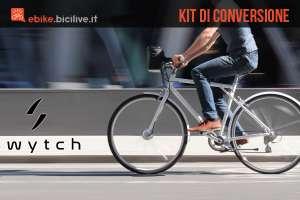bicicletta con kit di conversione ebike swytch