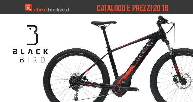 Gamma e prezzi 2018 bici elettriche Black Bird