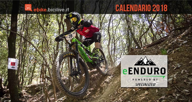 biker durante tappa dell'e-enduro specialized