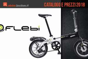 Catalogo e listino prezzi 2018 bici pieghevoli elettriche Flebi